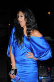 Nicole Scherzinger shows legs in short blue dress at Maxim's 2008 Hot 100 Party