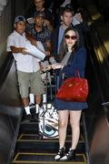 Emmy Rossum arrives at LAX Airport 06/11/14