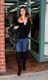 Brittny Gastineau visits a nail salon in Beverly Hills - Feb 26, 2010